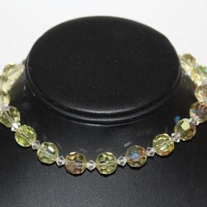 CITRINE AB CRYSTALS SPARKLING CHOKER NECKLACE
